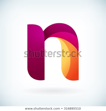 n logo blue orange icon element symbol sign Stock photo © blaskorizov