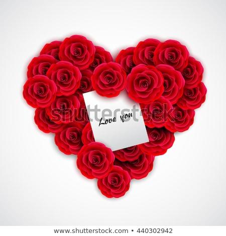 Dia dos namorados cartão branco nota coração forma Foto stock © Kotenko