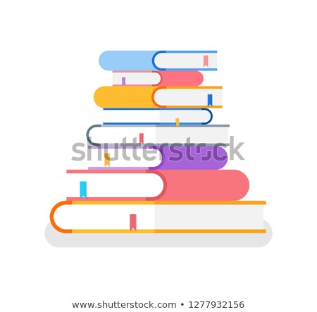 Books in Colorful Cover Lie on Each Other Vector Stock photo © robuart