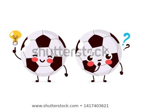 Cartoon light bulb playing soccer. Stock photo © bennerdesign