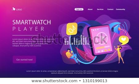 Smartwatch player concept landing page. Stock photo © RAStudio