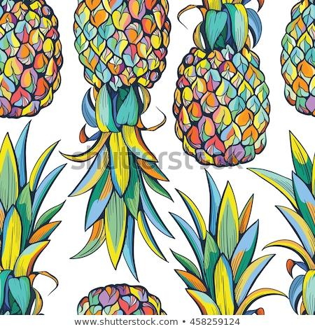 パイナップル 明るい 黄色 レストラン 食べ 広告 ストックフォト © ConceptCafe