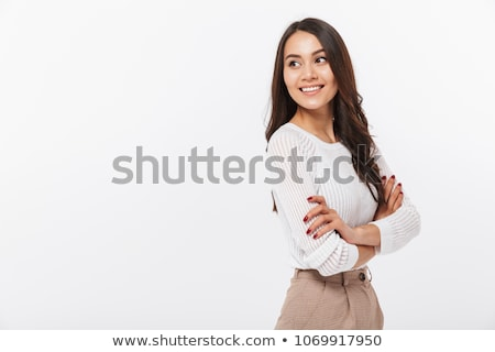 jovem · encantador · menina · cintura · para · cima - foto stock © studiolucky