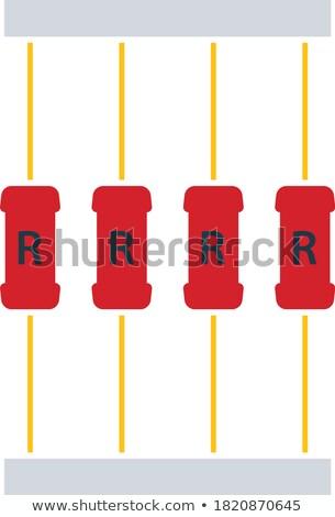 resistor tape icon stock photo © angelp