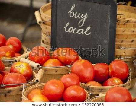 新鮮な 赤 トマト 農家 市場 ストックフォト © boggy