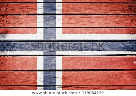 Norvégia zászló fa deszka illusztráció terv háttér Stock fotó © colematt