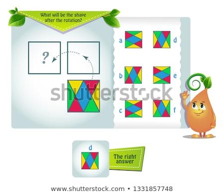 Forma rotáció oktatási játék gyerekek felnőttek Stock fotó © Olena