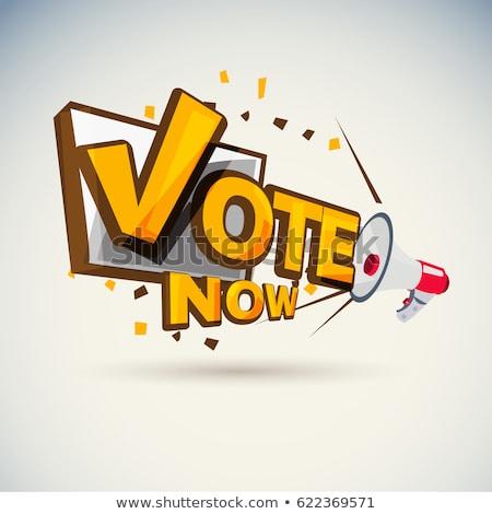 El imzalamak seçim bayrak ülke Stok fotoğraf © SArts