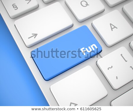 Enjoyment - Text on White Keyboard Keypad. 3D. Stock photo © tashatuvango