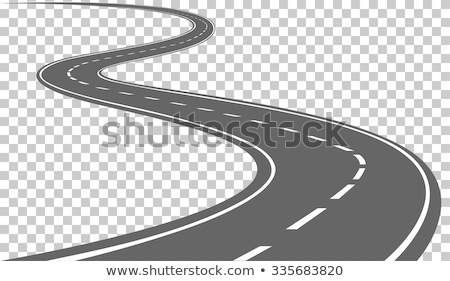 Curved road with markings. Vector illustration Stock photo © olehsvetiukha