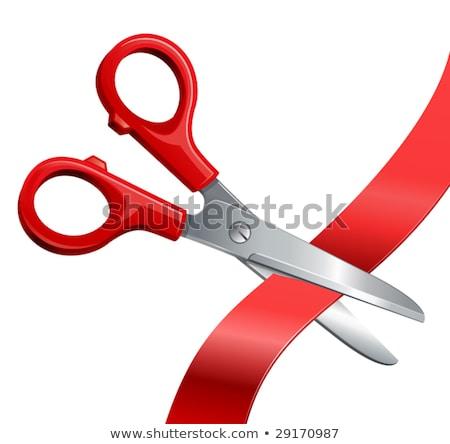 Сток-фото: ножницы · Cut · лента · изолированный · белый