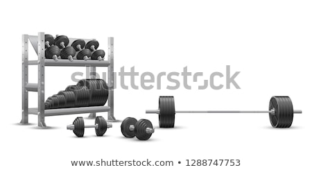 Dumbbell storage rack 3D Stock photo © djmilic