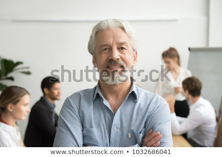 good boss company leader supervising office worker stock photo © robuart