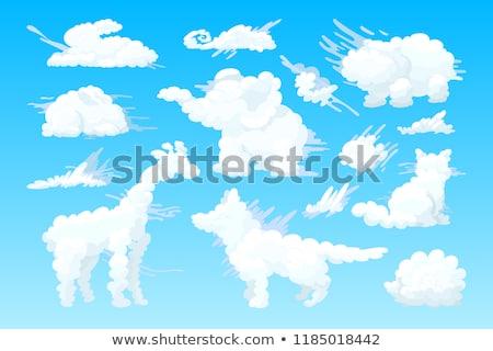 Vektör hayvan bulut ayarlamak siyah beyaz Stok fotoğraf © VetraKori