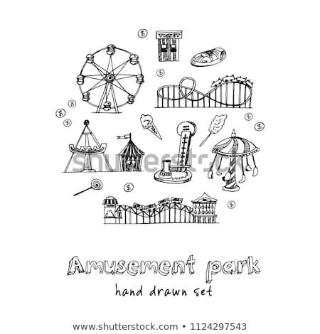 Circus. Collection of hand drawn icons Stock photo © netkov1