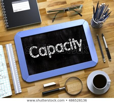 small chalkboard with capacity increase 3d rendering stock photo © tashatuvango