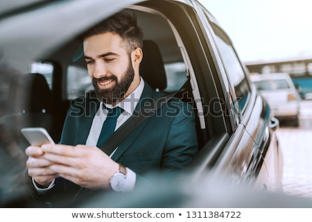 człowiek · znajomych · posiedzenia · samochodu · okno · kobieta - zdjęcia stock © andreypopov