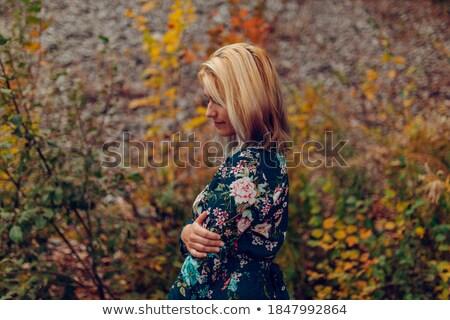 szabadtér · divat · fotó · gyönyörű · fiatal · nő · virágok - stock fotó © ElenaBatkova