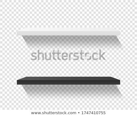 black shelf on transparent background Stock photo © romvo