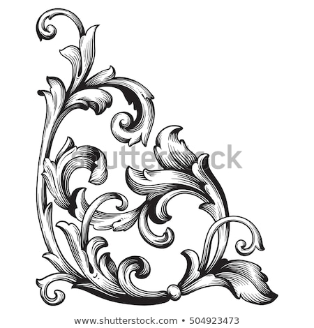 Vintage Baroque ornamented background Vector. Victorian Royal te Stock photo © frimufilms