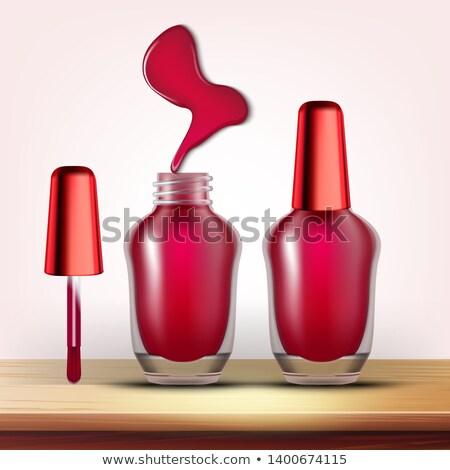 Vial Burundi unha polonês feminino cosmético vetor Foto stock © pikepicture