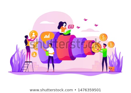 Marketing funnel concept vector illustration. Stock photo © RAStudio