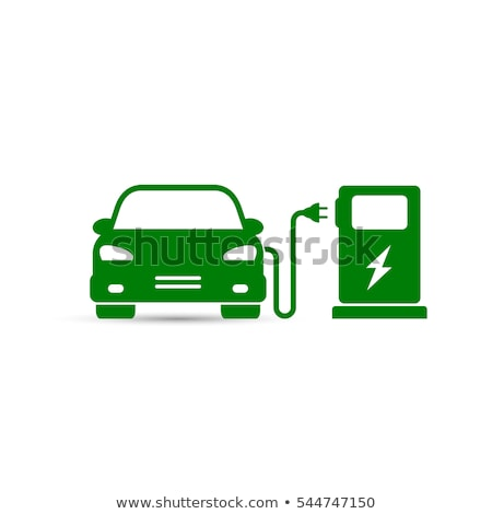 Electro Car Charging Station Isolated Vector Icon Stock photo © robuart