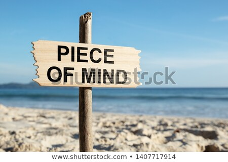 Piece Of Mind Wooden Pole On The Sandy Beach Stock photo © AndreyPopov