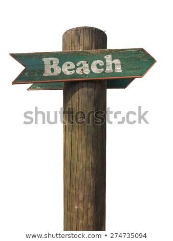 Yaz ahşap gönderemezsiniz plaj bulanık Stok fotoğraf © AndreyPopov
