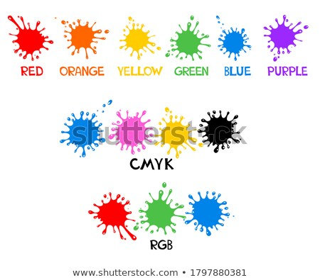 Cmyk Subtractive Mixed Color Model Set Vector Stock photo © pikepicture