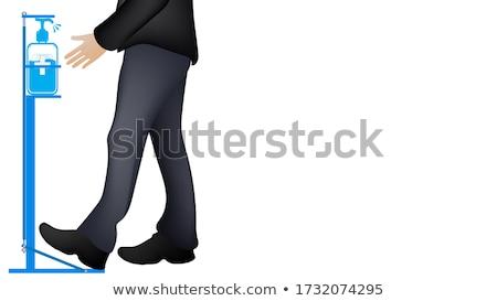 стоять рук привлекательный молодые мышечный спортсмена Сток-фото © pressmaster