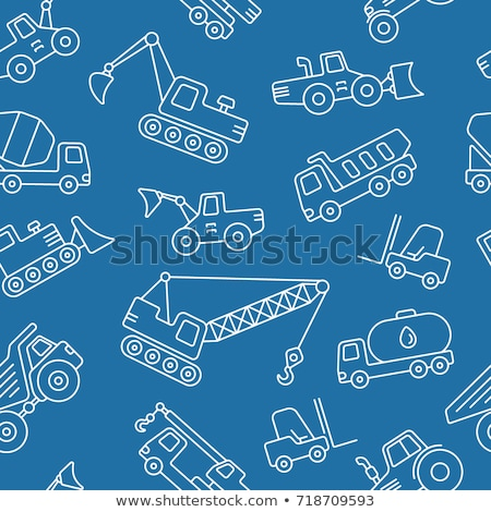 Construction machinery pattern Stock photo © netkov1