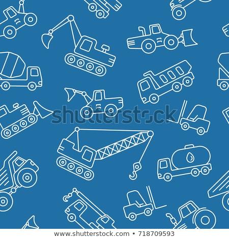 teherautó · beton · keverő · építkezés · ikonok · vektor - stock fotó © netkov1