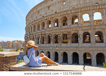 Woman Looking At Colosseum Arena Stock photo © AndreyPopov