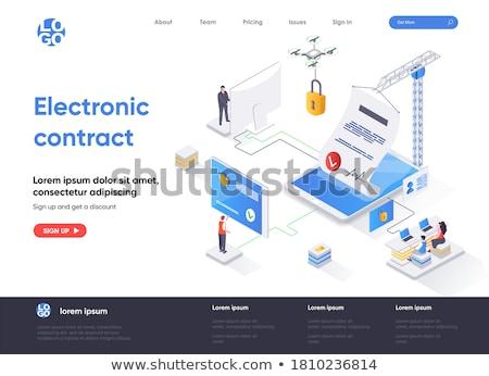 electronic contract concept banner header stock photo © rastudio