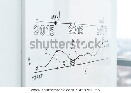 statisctics of business project whiteboard info stock photo © robuart