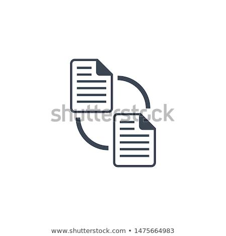 Pliku wymiany wektora ikona odizolowany biały Zdjęcia stock © smoki