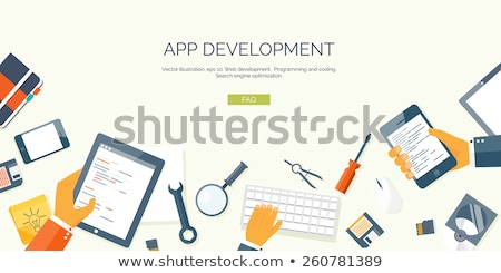 Mobile app development courses concept vector illustration Stock photo © RAStudio
