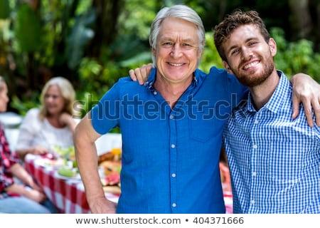 aposentados · homem · férias · inflável · colchão · isolado - foto stock © wavebreak_media