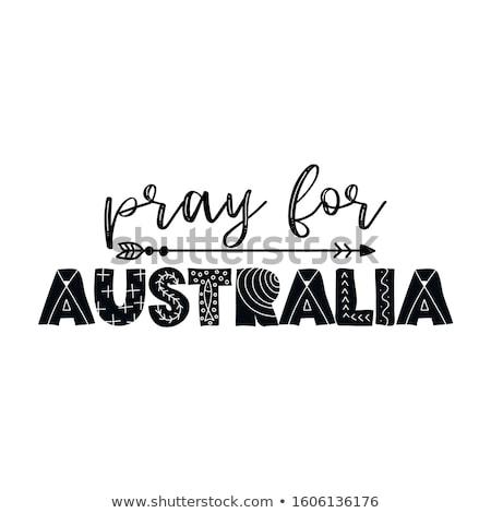 Бога сохранить Австралия поддержки австралийский люди Сток-фото © Zsuskaa