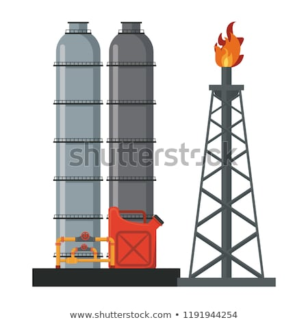 Industry Petroleum Machinery and Process Vector Stock photo © robuart