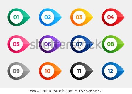 Bullet punten een twaalf veel kleuren Stockfoto © SArts