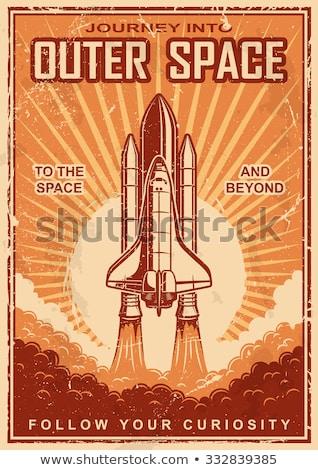 ракета судно запуск пространстве путешествия вектора Сток-фото © vector1st