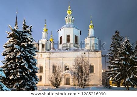 Onderstelling kathedraal Rusland zomer kerk reizen Stockfoto © borisb17