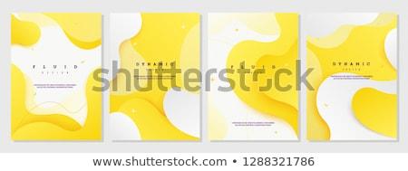 Vibrante dinâmico onda estilo moderno abstrato fundo Foto stock © SArts