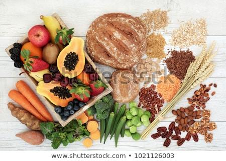 Saine élevé fibre alimentaire céréales grain Photo stock © marilyna