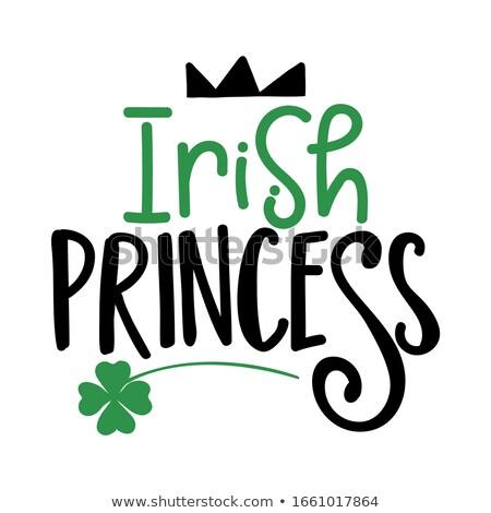 İrlandalı prenses komik gün ilham verici dizayn Stok fotoğraf © Zsuskaa
