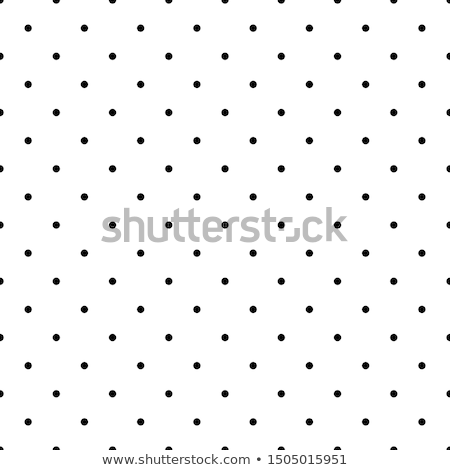 Classic polka dot textile background texture, black dots on whit Stock photo © Anneleven