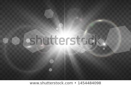 Luz solar especial lente flash luz efeito Foto stock © olehsvetiukha