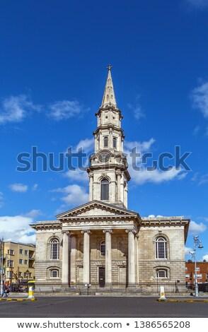 Templom Dublin Írország épület város óra Stock fotó © borisb17